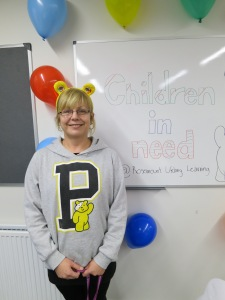 Our Child Development worker Mags was Pudsey-ready!